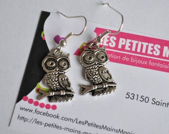 earring retro chic vintage OWL