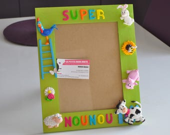 picture frame personalized here customizable farm themed