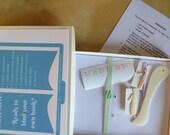 Children's bookbinding kit, kid's book binding kit, junior craft kit, age 7 up, craft kit for children, simple bookbinding, bookbinding kit