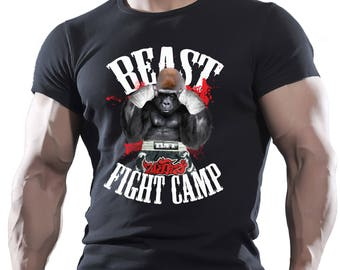Gorilla Fight Camp Black Men's Cotton T-shirt