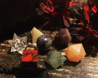 Chakra, Sacred Geometry, Platonic Solids, Chakra Sacred Geometry Set