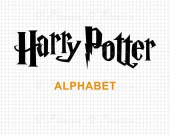 Buy 2 Get 1 Free! Digital Clipart Harry Potter Monogram Alphabet, modern cutting font images, text style png/eps/svg/dxf/studio cut files