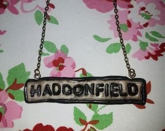 Halloween - Haddonfield Sign Pendant Necklace