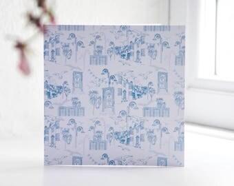 Lyme Regis Seaside Greetings Card - Lyme Regis - Seaside Card - Art Card - Blank Greeting Cards - Dorset Gift - Dorset Art
