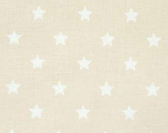 Au maison oilcloth star big Grey toffee beige, coated cotton