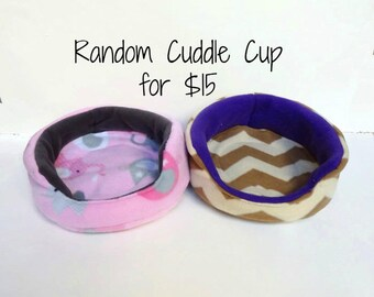One Random Cuddle Cup - For Guinea Pigs, Hedgehogs, Rabbits, Rats, and more!