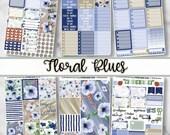 Floral Blues Vertical Kit