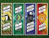 Long Bookmark   Gryffindor Hufflepuff Ravenclaw Slytherin Hogwarts Houses Bookmarks Pack of 4 Sorting Hat Quidditch Harry Potter Bookmarks