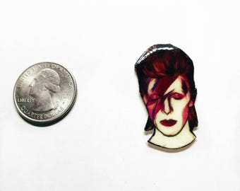 "Handmade ""David Bowie"" lapel pin"