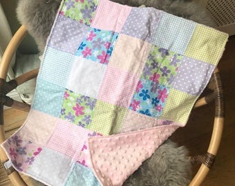 Pastel Baby Buggy Blanket