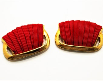 Red and Gold Shoe Clips Bluette