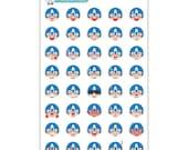Captain America Emoji Stickers