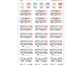 Walter & Rosie Candle Co. Shop Reminder Stickers - Disney Planner Stickers