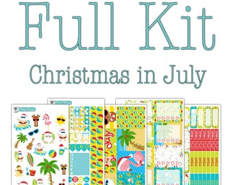 Christmas in July Planner Stickers Collection