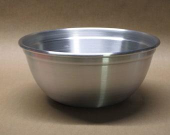 Bowl Rounded Aluminum Seamless Hand Spun, Medium Size, Handmade, New, Metal Spinning,