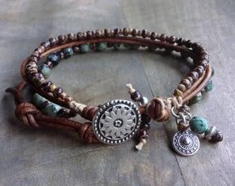 Bohemian bracelet boho chic bracelet womens jewelry boho bracelet gemstone bracelet rustic bracelet boho chic jewelry rustic jewelry