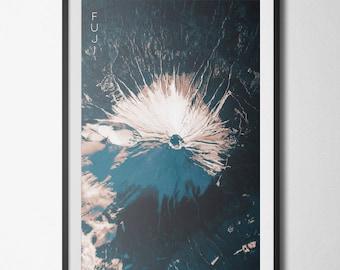 Mt Fuji Print Art Poster 11x17 18x24 24x36