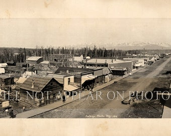 "1916 Anchorage Alaska Vintage Panoramic Photograph Reprint 33"" Long"