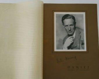 Vintage 1936 RARE Leslie Howard of Gone With The Wind Fame Original HAMLET Prince of Denmark Theater Program William Shakespeare