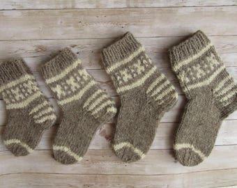 Kids Wool Socks, Chunky Knit Socks, Socks For Children, Boys socks, Girls Socks, Baby Socks, Ready To Ship