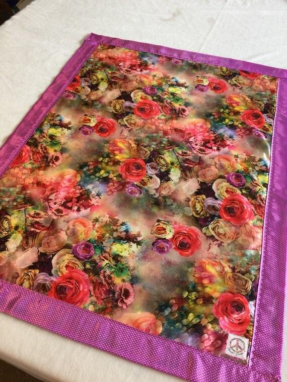 Baby Blanket, Baby Shower, Silky Baby Blanket, Floral baby blanket, baby girl, baby boy, lovey, personalized, 30 x 40 crib blanket