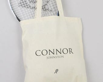 ON SALE Tennis tote bag - personalised, tennis player, shopping bag