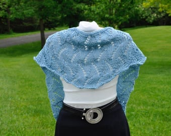 Knitted Cotton Lace Scarflets