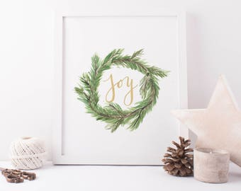 Christmas Prints, Christmas Printables, Wall Art Sign, Holiday Prints, Christmas Decoration, Holiday Decor, Holiday Printable, Joy Print