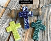 1 Ceramic Mini Classic Pocket Cross | Stoneware Cross | Christian Inspirational Pottery | Pottery Cross Art | Small Pocket Cross