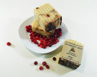 Granberry soap - Cold Press Soap - Soap Bars - Granberry berries - Handmade Natural Soap
