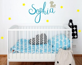 baby name decal, personalized name decal, customized name decal, name decal, wall decal