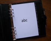 A5 Size AZ Address DIVIDERS Black  White 752  Fits FILOFAX  9 Tabs