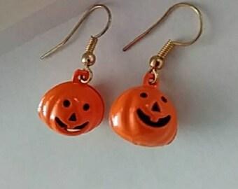 Pumpkin Jingle Bell Earrings