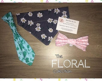 The FLORAL Collection - Pet Bandanas, Bowties and Ties - various sizes/designs available