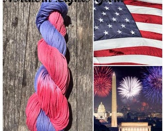 Patriot  hand-dyed cotton yarn