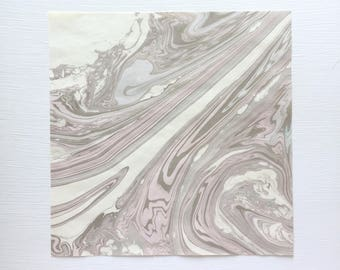 """10"""" x 10"""" One-of-a-kind Handmarbled Paper Art - Purple, Lilac, Lavender, Amethyst"""