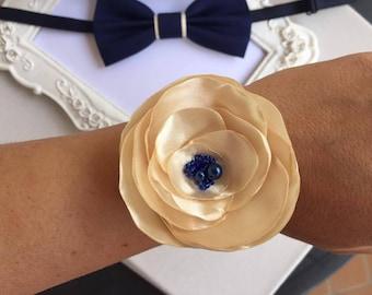 For bridesmaid flower bracelet