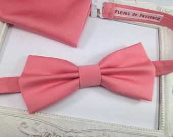 Elegant butterfly knot Rose Corail and pouch SET suit matching
