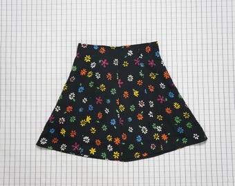 90's Circle Skirt, High Waisted Skirt, Daisy Floral Skirt, Soft Grunge,90's Girl, Nostalgia, Tumblr, XS