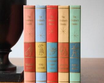 Colorful Books, Vintage Books, Antique Books, Vintage Collection, Book Décor, Wedding Decor, Home Decor, Centerpiece, Office Décor, Book set