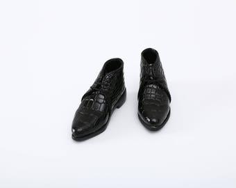 MSD_Black Crocodile Boots
