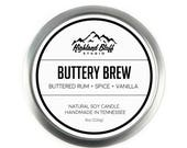 Buttery Brew // Buttered Rum + Spice + Vanilla // 8oz Soy Candle