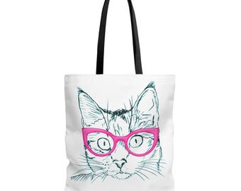Funny Cat Pet Kitty Animal Gift Idea Aop Tote Bag