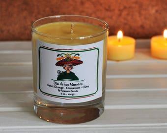 Vegan candle. Dia de los Muertos Dead of the Day