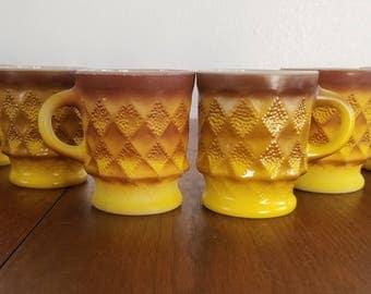 Anchor Hocking / FireKing Mugs - Set of 6
