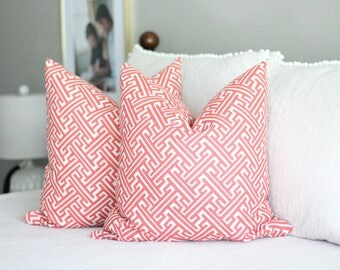 lacefield trellis print pillow cover // red pillow cover // geometric pillow covers // neutral decor // geometric print