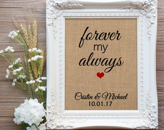 Forever my always gift, Wife Mother's Day Gift, Couple Gift, Engagement Gift, Anniversary Gift, Wife Gift, Husband Gift, Girlfriend gift