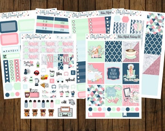 Relax, Refresh, Recharge Weekly Vertical Sticker Kit for No-White Space and White Space Planners