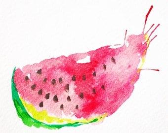 Watermelon Watercolour Print