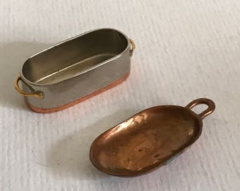 miniature toys,metal toys,kitchen miniature decor,pack toys,epsteam,copper toys,toy pots and pans,toy utensil,role model toys,copper pots.